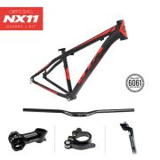 Quadro MTB GTA NX11 aro 29  Alumínio - Preto/Vermelho Fosco