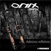 Suspensão 29 PROSHOCK Ônix Dark Tapered 100mm Preto Fosco Refletivo com Trava no Guidão