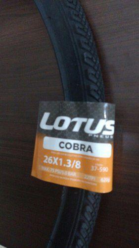 02 un. Pneus LOTUS 26 x 1.3/8 Cobra SRI-53 para Brisa e Ceci Antigas
