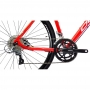 Bicicleta OGGI 700 Velloce Disc 2022 - 16v Shimano Claris - Freio a Disco Shimano - Vermelho/Grafite/Branco
