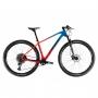 Bicicleta OGGI Agile PRO GX 2021 - 12v SRAM GX Eagle - K7 Sram 10/52 dentes - Suspensão FOX StepCast 32 SC - Vermelho/Azul/Preto