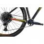 Bicicleta OGGI Big Wheel 7.6 2021 - 12v Sram GX - Suspensão Manitou Machete Comp - Preto/Amarelo/Vermelho