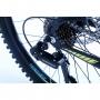 Bicicleta OGGI Hacker aro 24 - 21v Shimano Tourney - Freio a Disco - Preto/Amarelo/Azul