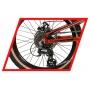 Bicicleta REDSTONE Alpha G 20 aro 20 - 8v Shimano Altus - Vermelho/Branco/Preto - A MELHOR BIKE ARO 20 DA CATEGORIA