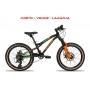 Bicicleta REDSTONE Alpha G 20 aro 20 - 8v Shimano Altus - Preto/Verde/Laranja - A MELHOR BIKE ARO 20 DA CATEGORIA
