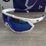 Óculos de Sol HB Spin Pearled White - Lente Azul Espelhada / Cristal
