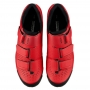 Sapatilha MTB SHIMANO SH-XC100 Com 3 Velcros Vermelho