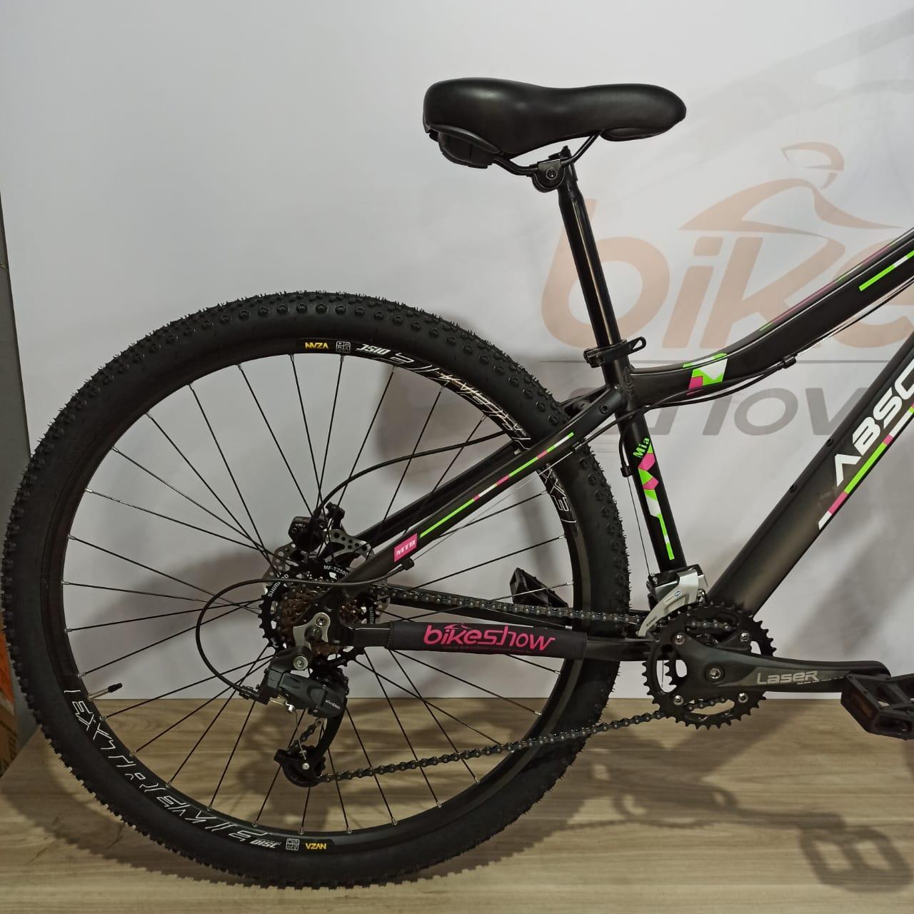 Bicicleta Absolute Mia aro 29 - 14v MicroShift - Freio Hidráulico Absolute - Suspensão HIgh One c/ Trava no ombro