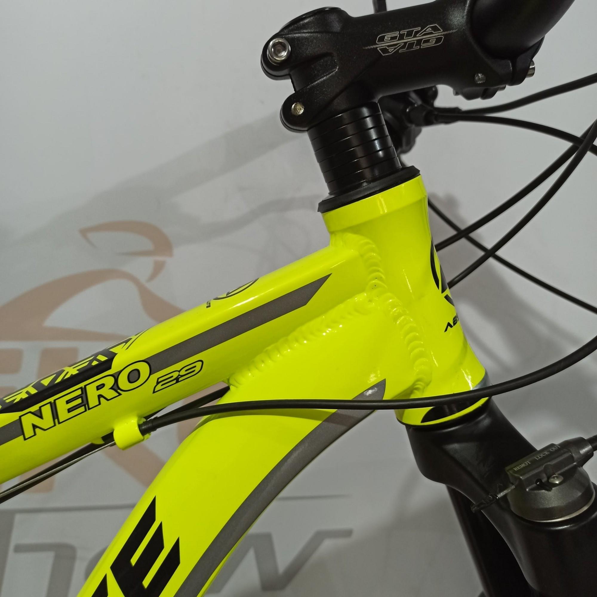 Bicicleta ABSOLUTE Nero aro 29 - 18v X-Time - Freio Absolute Hidráulico - Suspensão Absolute com trava no guidão
