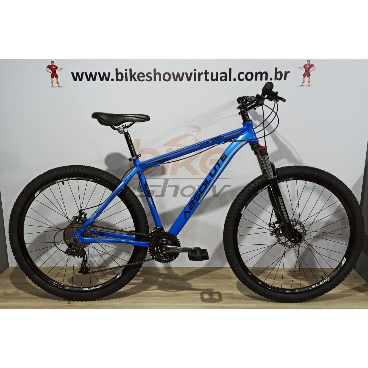 Bicicleta ABSOLUTE Nero aro 29 - 24v GTA - Freio GTA Mecânico - Suspensão HIgh One c/ Trava no ombro