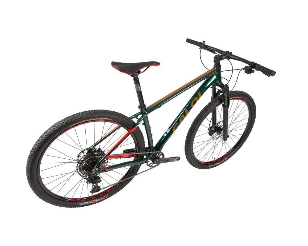Bicicleta CALOI Elite 2020 - 12v Sram SX Eagle - Suspensão Rock Shox a AR com trava no guidão
