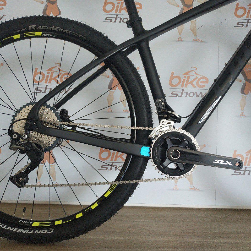 Bicicleta CALOI Elite Carbon Sport 2019 - 22V Shimano SLX - Suspensão Rock Shox Recon - Freio Hidráulico - Frete Grátis + BRINDES