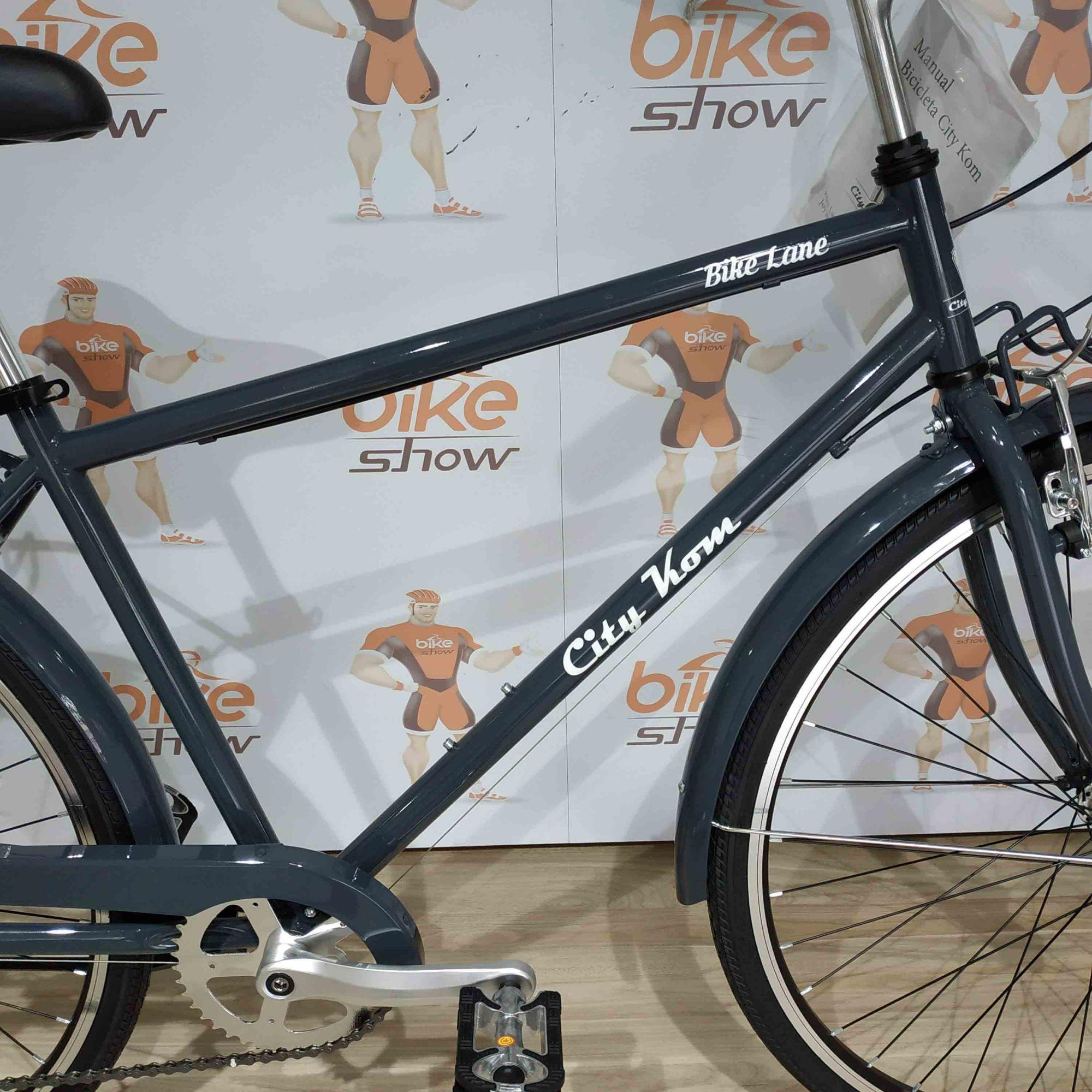 Bicicleta CITY KOM Bike Lane aro 700 - 7v Shimano Tourney - O MELHOR CUSTO BENEFÍCIO DA CATEGORIA