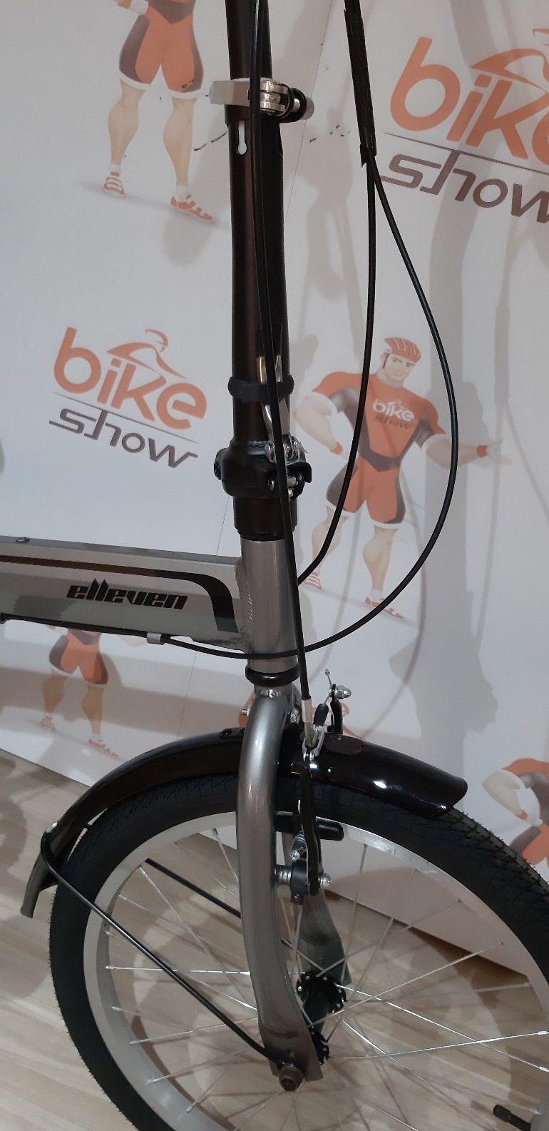 Bicicleta ELLEVEN aro 20 Dubly dobrável - 6V Sunrun - Quadro em alumínio