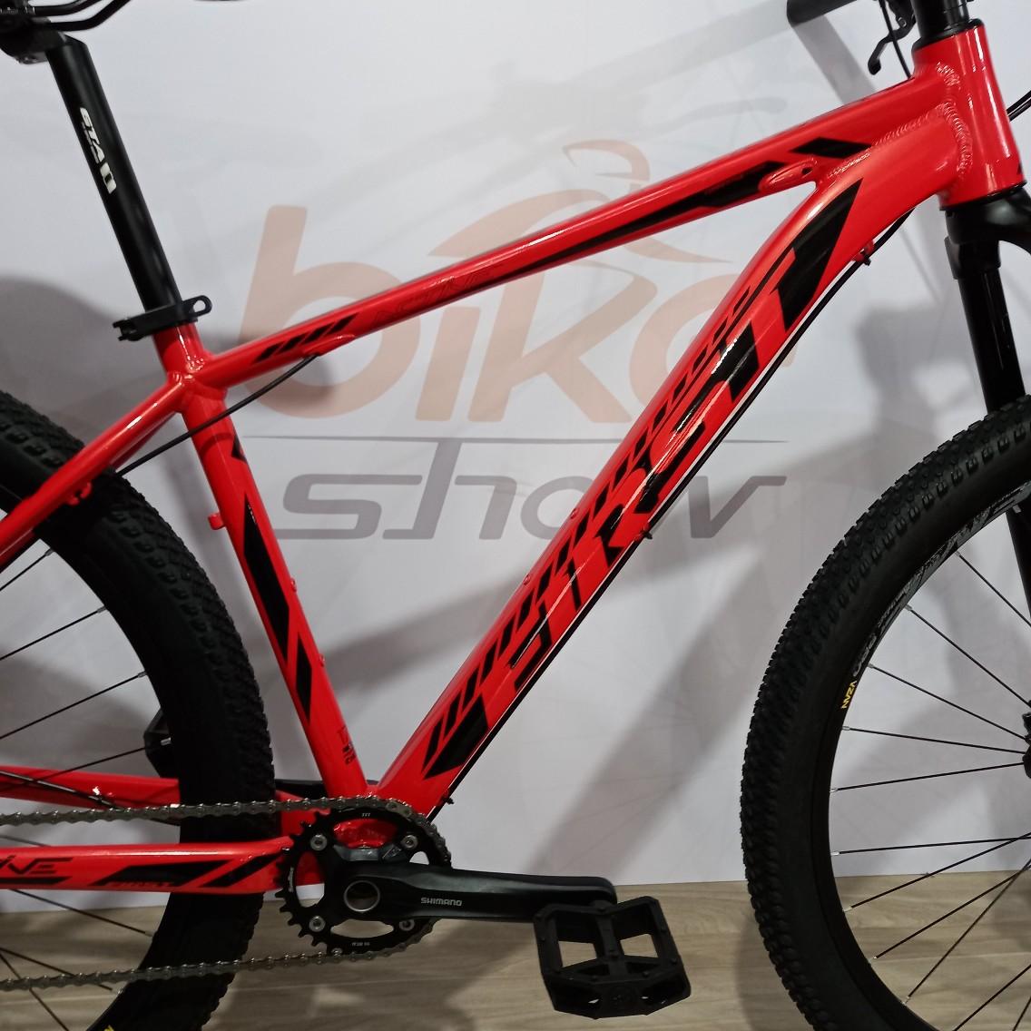 Bicicleta FIRST Active aro 29 - 12v Shimano SLX - K7 Shimano 10/51 dentes - Suspensão ABSOLUTE Tapered a AR