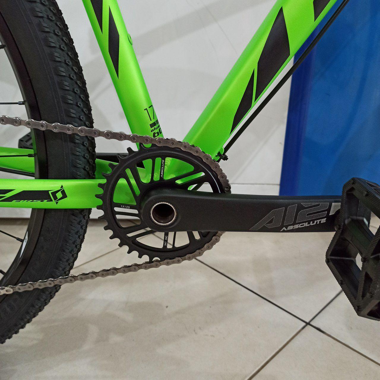 Bicicleta FIRST Lunix aro 29 - 12v Shimano SLX - Suspensão GTA a ar - Freios Shimano Hidráulico
