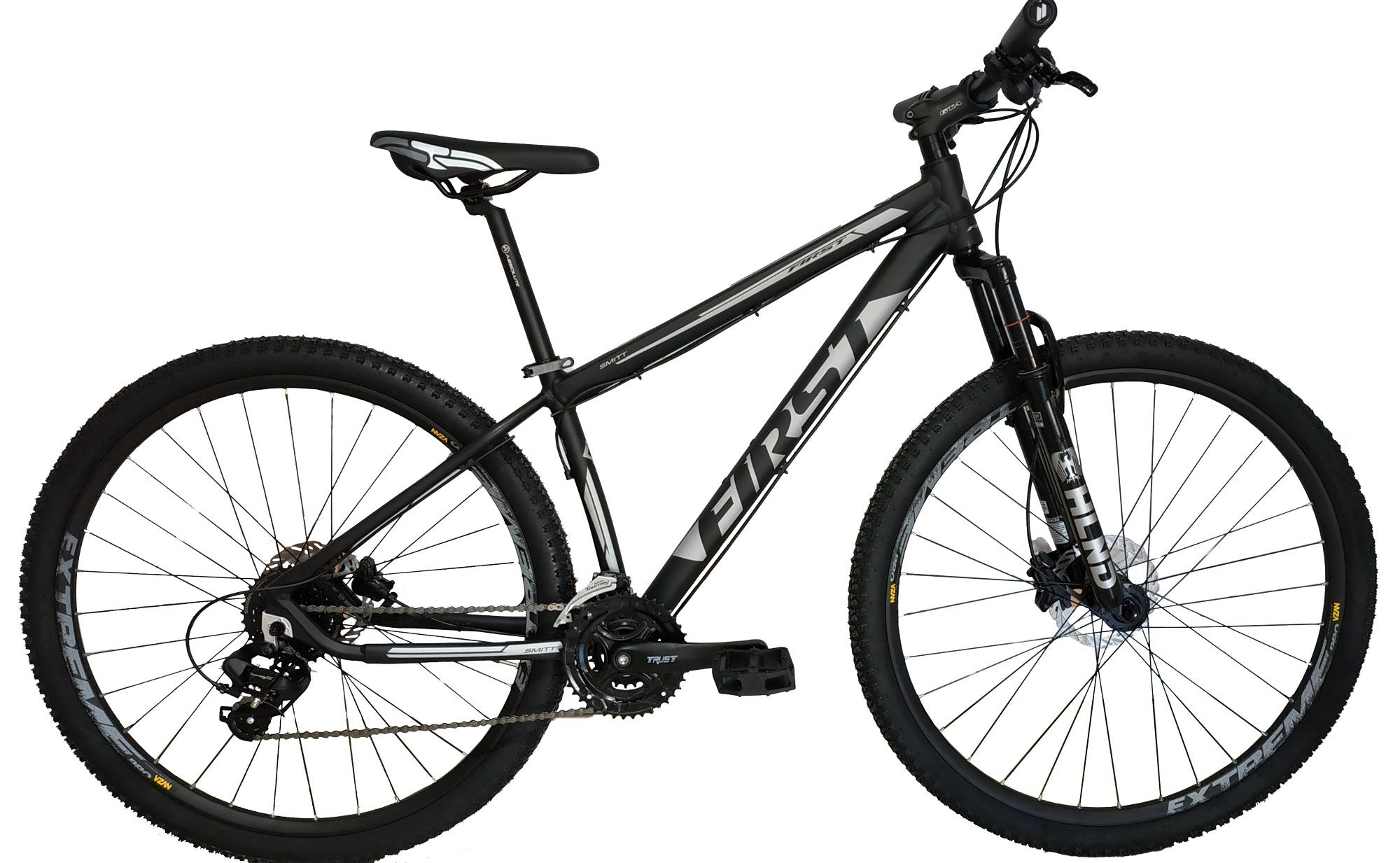 Bicicleta FIRST Smitt aro 29 - 24v Shimano Tourney - Freio Hidráulico - Cubos de Rolamentos