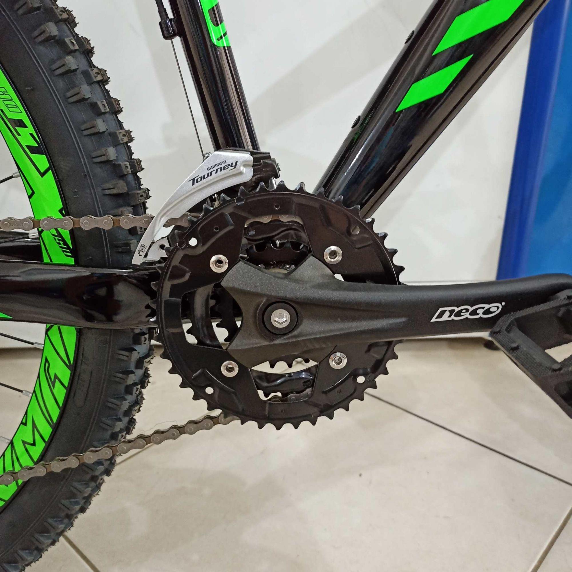 Bicicleta GIOS FRX aro 26 - 21v Sunrace / Shimano - Suspensão Voox 120 mm curso - Freio Hidráulico