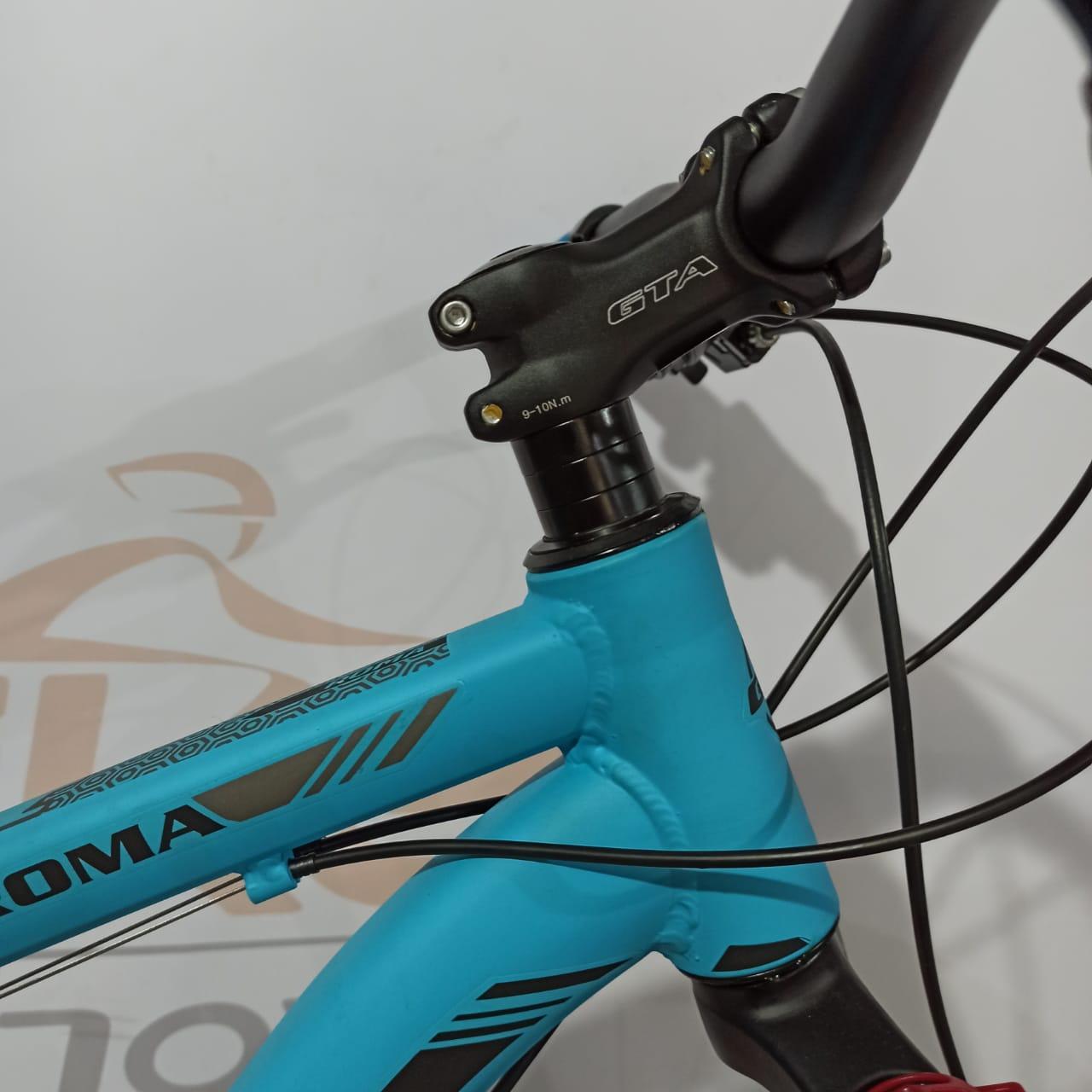 Bicicleta GTI Roma aro 29 - 21v Shimano Tourney - Freio a Disco Veloforce - Suspensão GTA trava no ombro