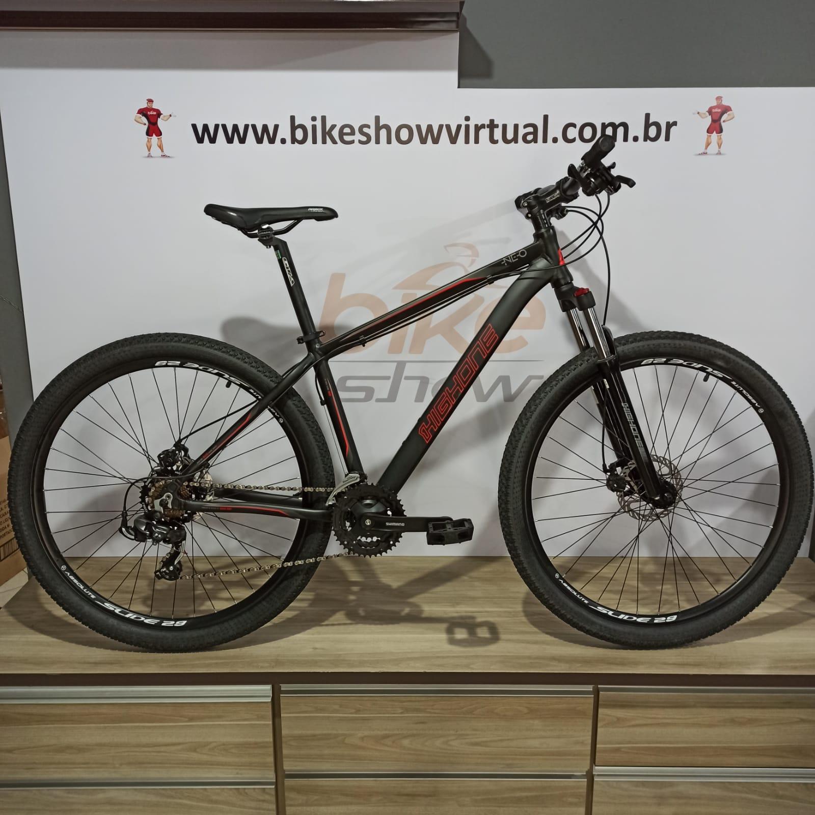 Bicicleta HIGH ONE Neo aro 29 - 21v Shimano Tourney - Suspenção High One com trava no ombro EDITAR
