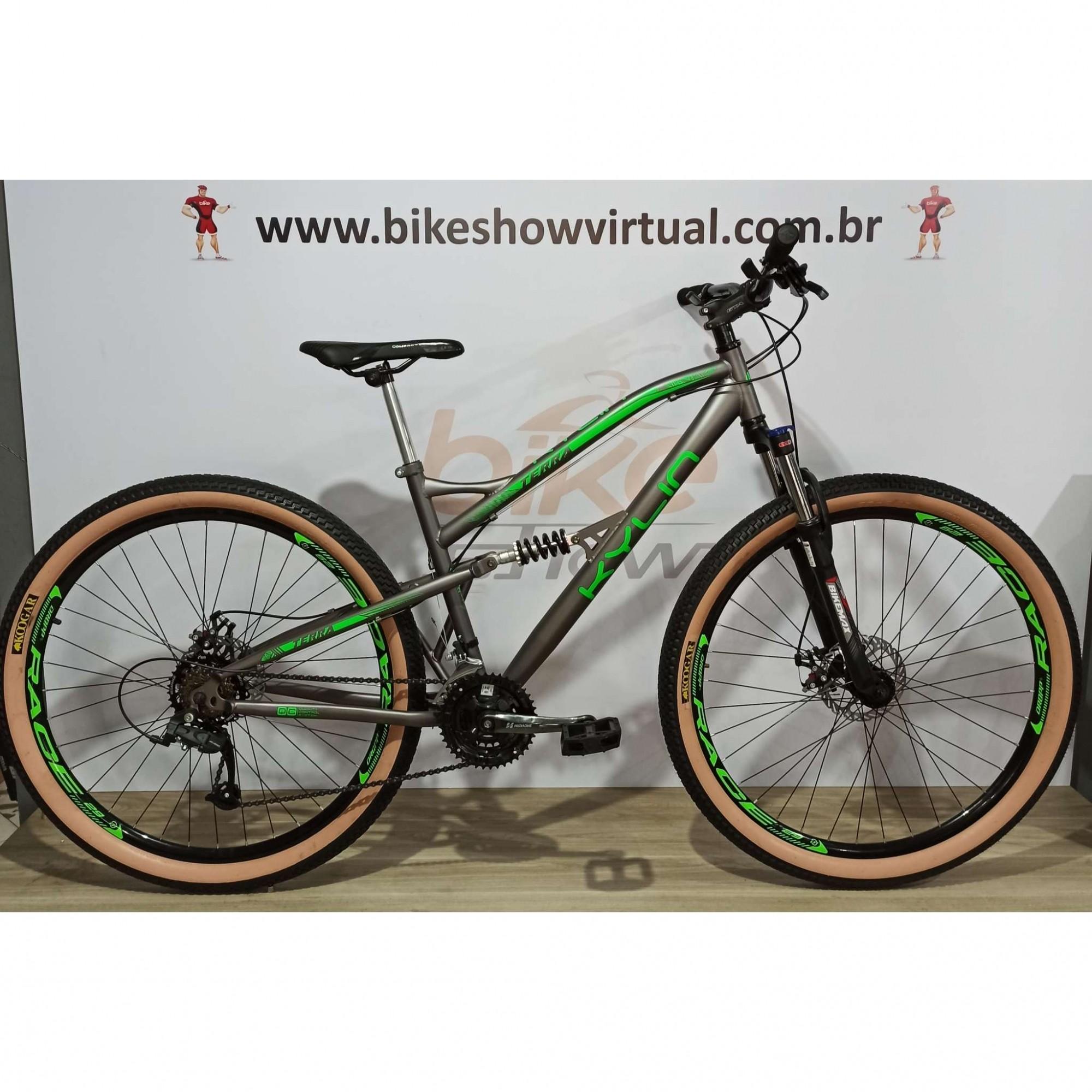 Bicicleta KYLIN Terra aro 29 - 21v MicroShift - Freio a Disco Veloforce - Suspensão BikeMax com Trava no ombro