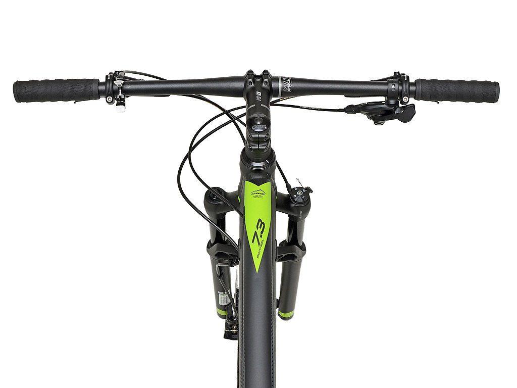Bicicleta OGGI 7.3 2020 - 12v Sram SX - Suspensão Manitou - Novo quadro 2020 - Preto/Grafite/Verde + BRINDES