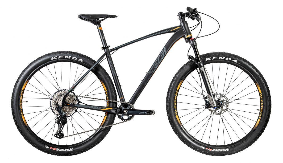 Bicicleta OGGI Big Wheel 7.4 2020 - 12v Shimano SLX - Preto/Grafite/Laranja