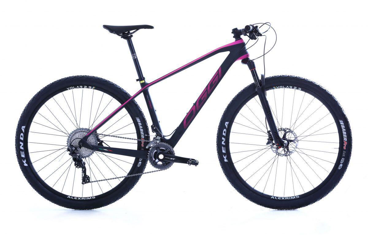 Bicicleta OGGI Agile PRO XT - Preto/Rosa