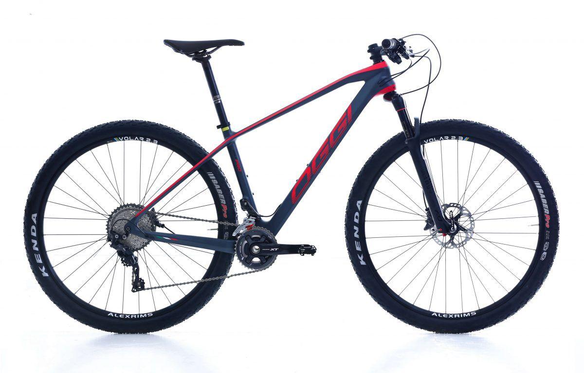 Bicicleta OGGI Agile PRO XT - Preto/Vermelho