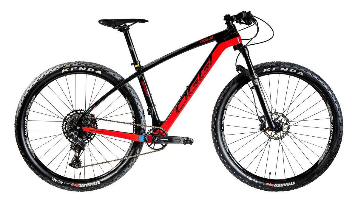 Bicicleta OGGI Agile Sport 2020 - Preto/Vermelho