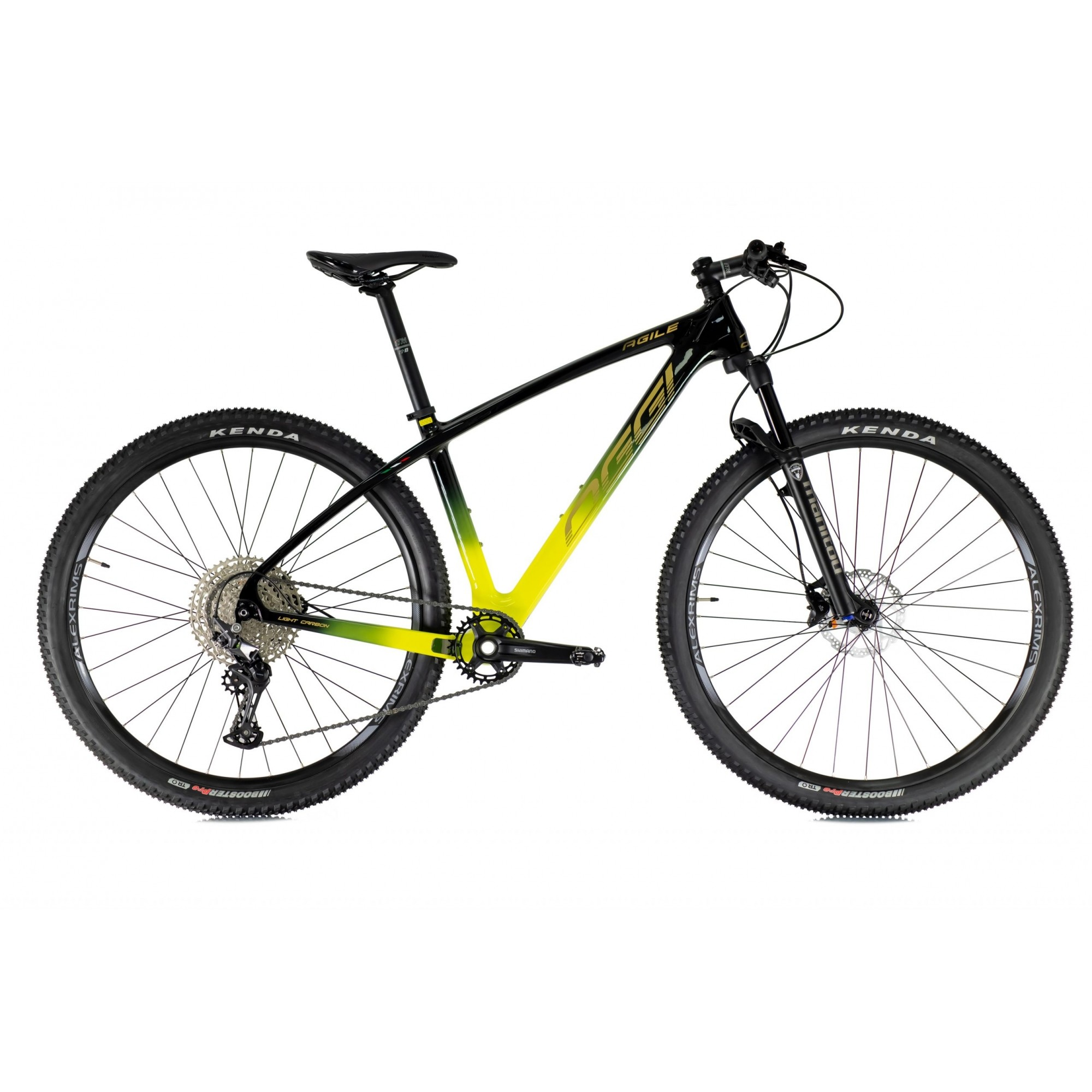 Bicicleta OGGI Agile Sport Carbon 2021 - 12v Shimano Deore - Suspensão Manitou Markhor - ENVIO IMEDIATO