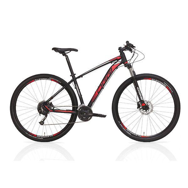 Bicicleta OGGI Big Wheel 7.0 aro 29 2019 - 27V Shimano Altus - Freio Hidráulico - Preto/Vermelho + BRINDES