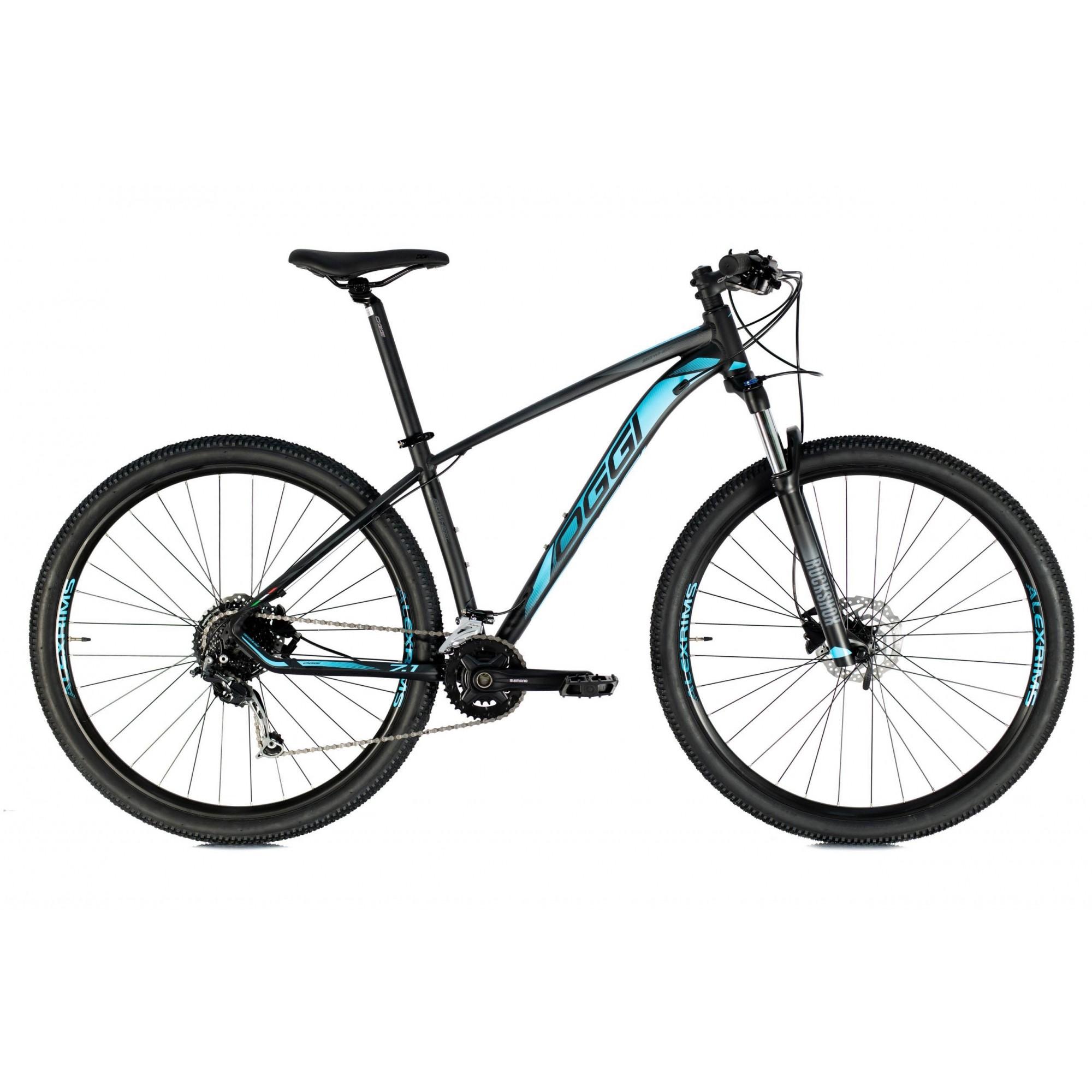 Bicicleta OGGI 7.1 2021 - 18v Shimano Alívio/Deore - Freio Hidráulico Shimano - Preto/Azul