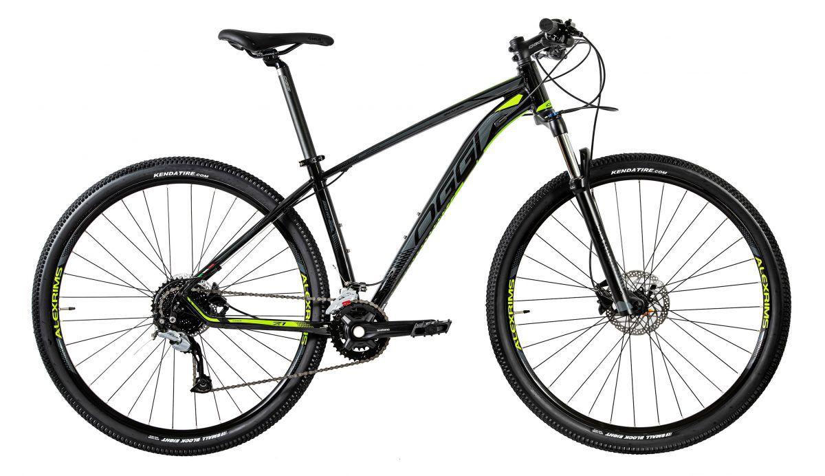 Bicicleta OGGI Big Wheel 7.1 2020 Preto/Grafite/Verde