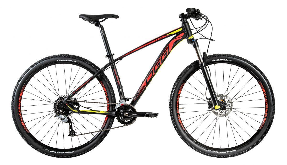 Bicicleta OGGI Big Wheel 7.1 2020 Preto/Vermelho/Amarelo
