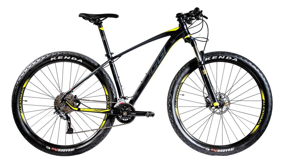 Bicicleta OGGI Big Wheel 7.2 2020 Preto/Grafite/Amarelo