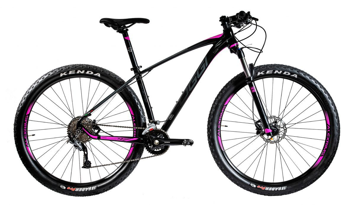 Bicicleta OGGI Big Wheel 7.2 2020 Preto/Grafite/Rosa