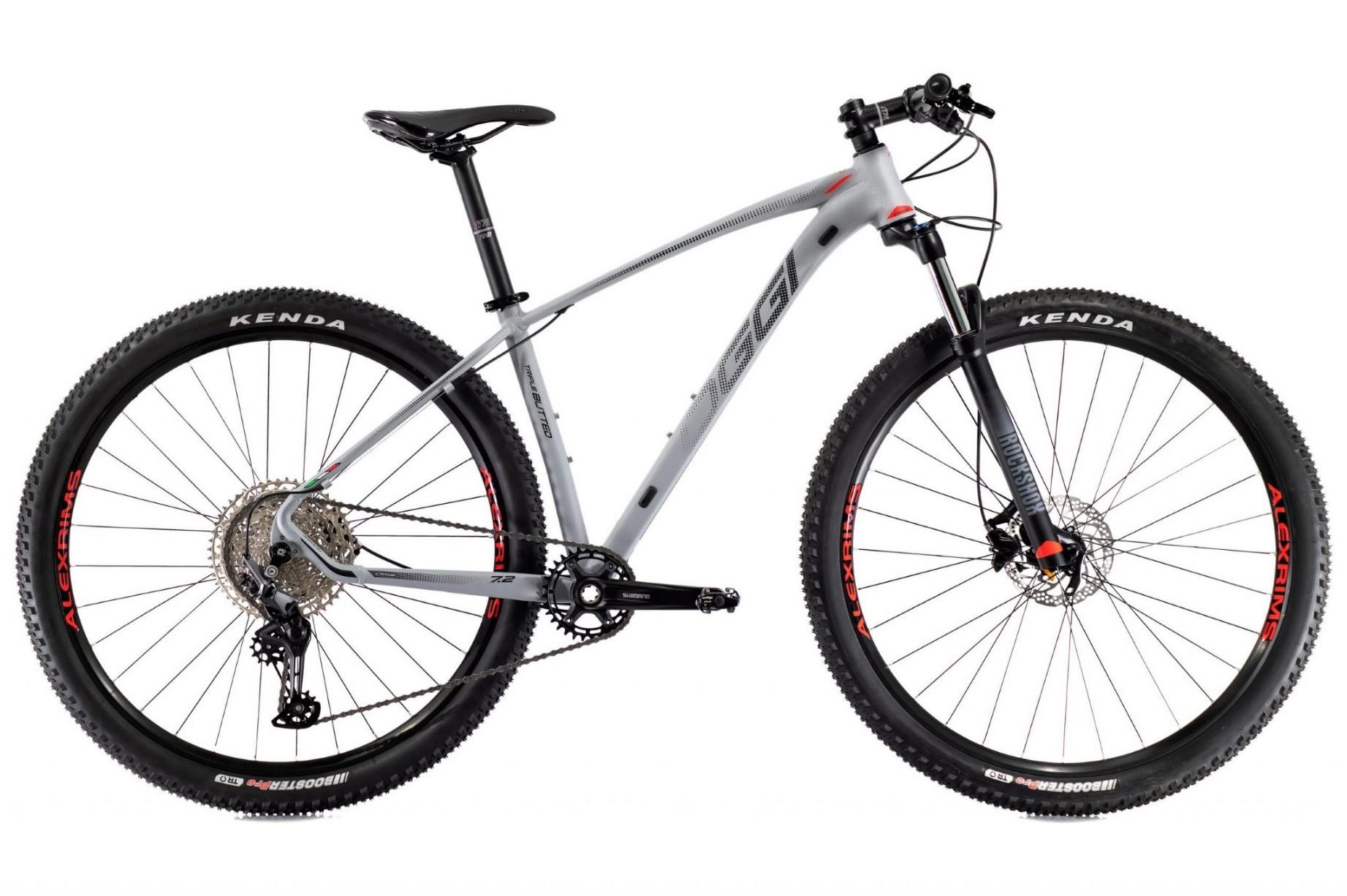 Bicicleta OGGI Big Wheel 7.2 2021 - 11v Shimano Deore - Freio Shimano Hidráulico - Cinza/Vermelho