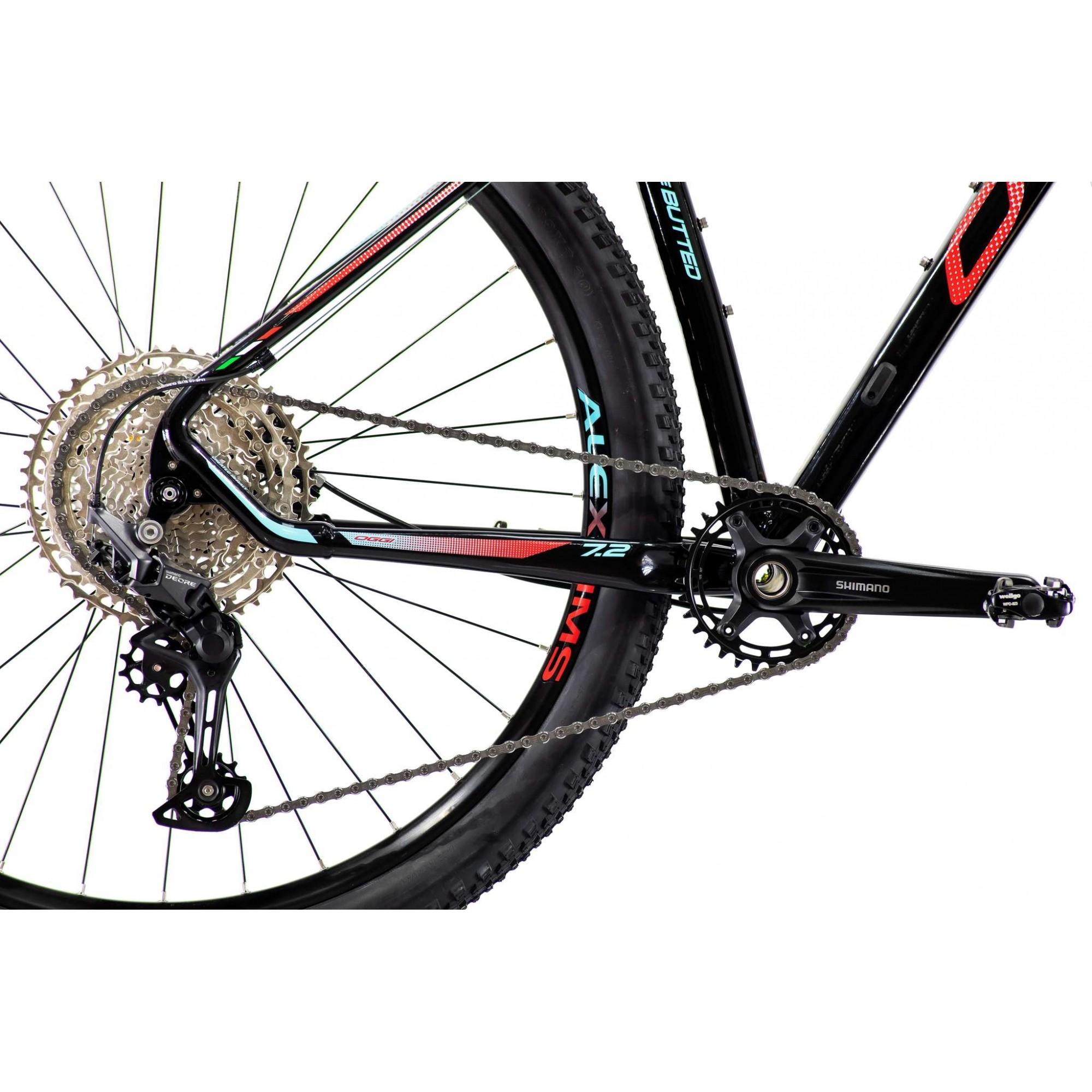 Bicicleta OGGI Big Wheel 7.2 2021 - 11v Shimano Deore - K7 11/51 dentes - Preto/Vermelho/Azul