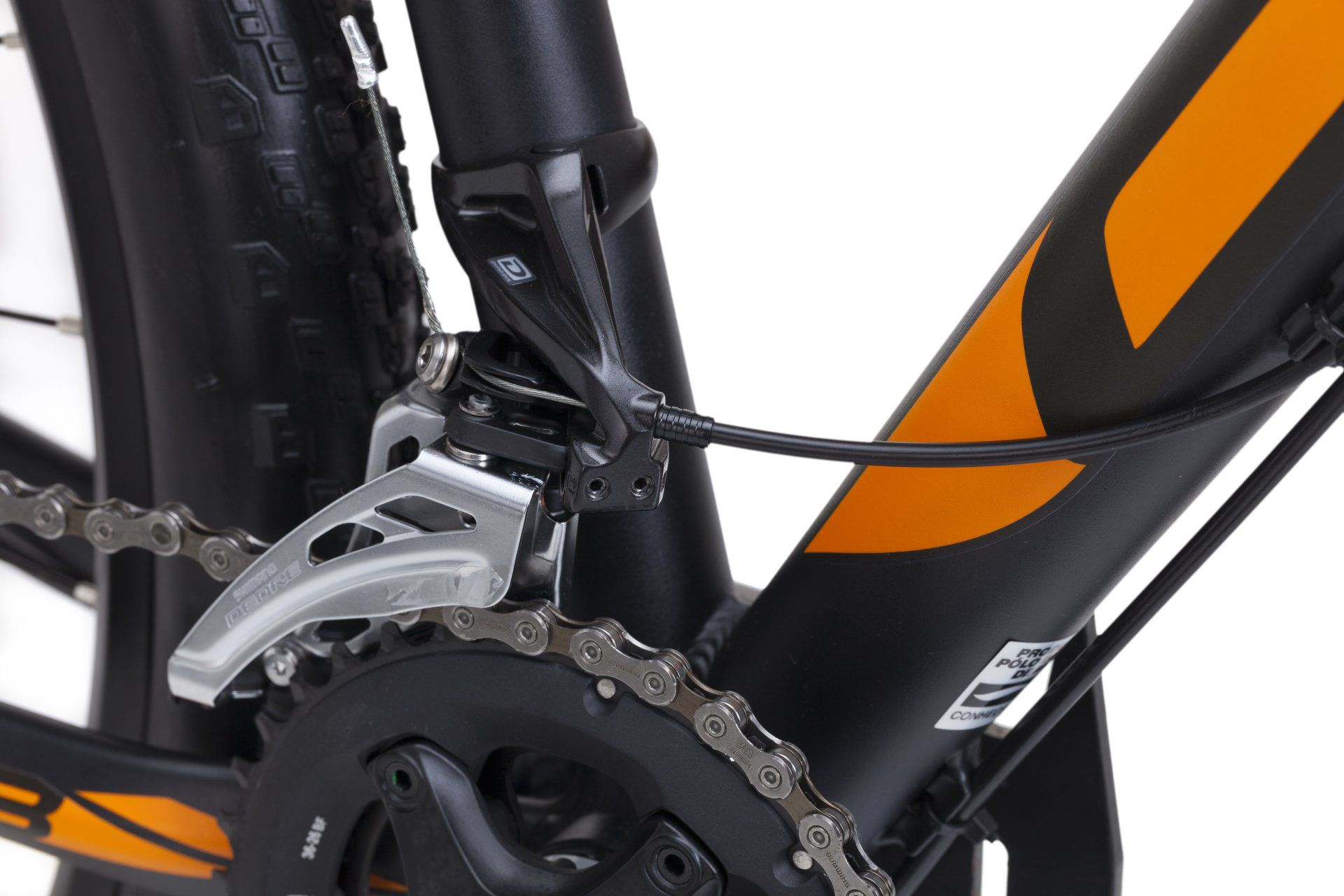 Bicicleta OGGI Big Wheel 7.3 aro 29 2018 - 20V Shimano Deore - Freio Shimano Hidráulico - Preto/Laranja + BRINDES