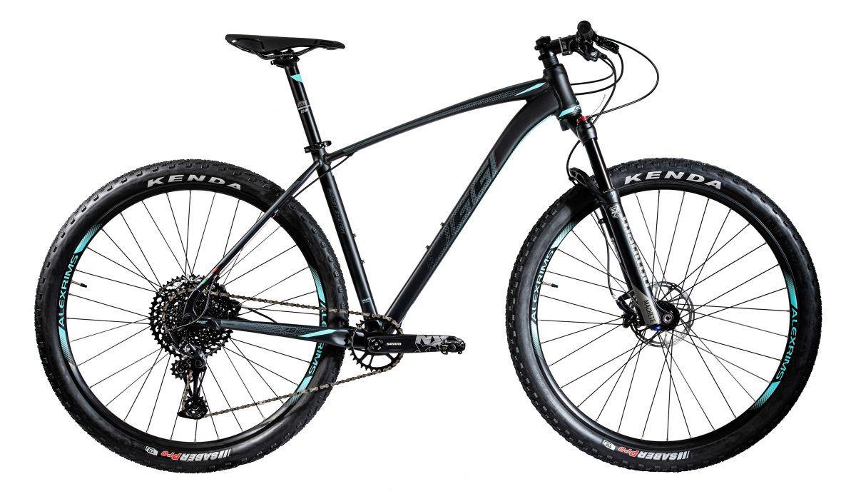 Bicicleta OGGI Big Wheel 7.5 2020 - Preto/Verde-Blue/Grafite