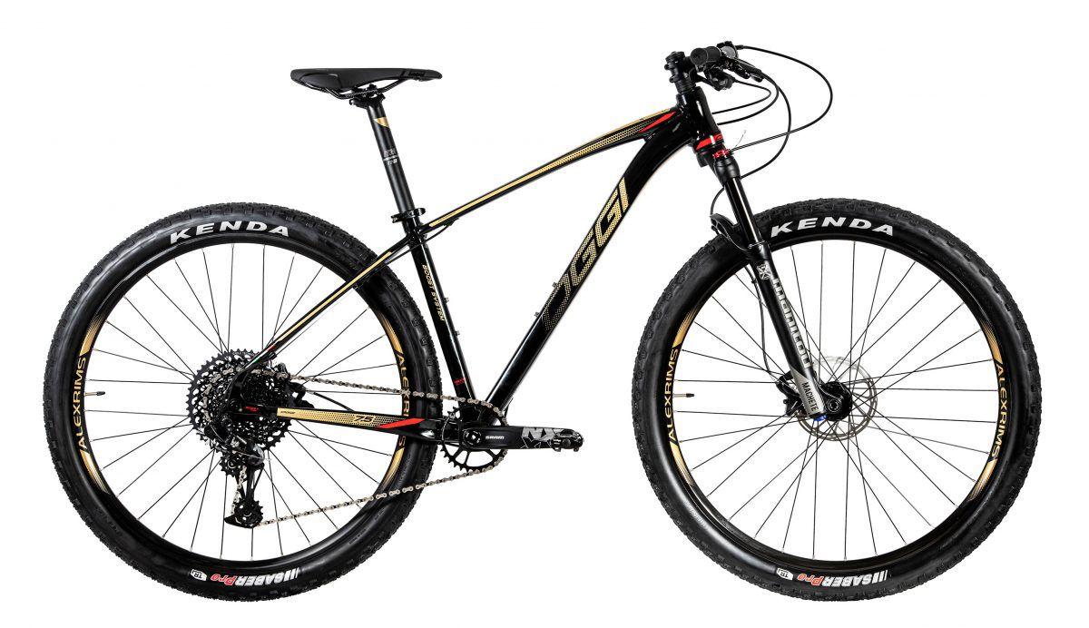 Bicicleta OGGI Big Wheel 7.5 2020 - Preto/Vermelho/Dourado