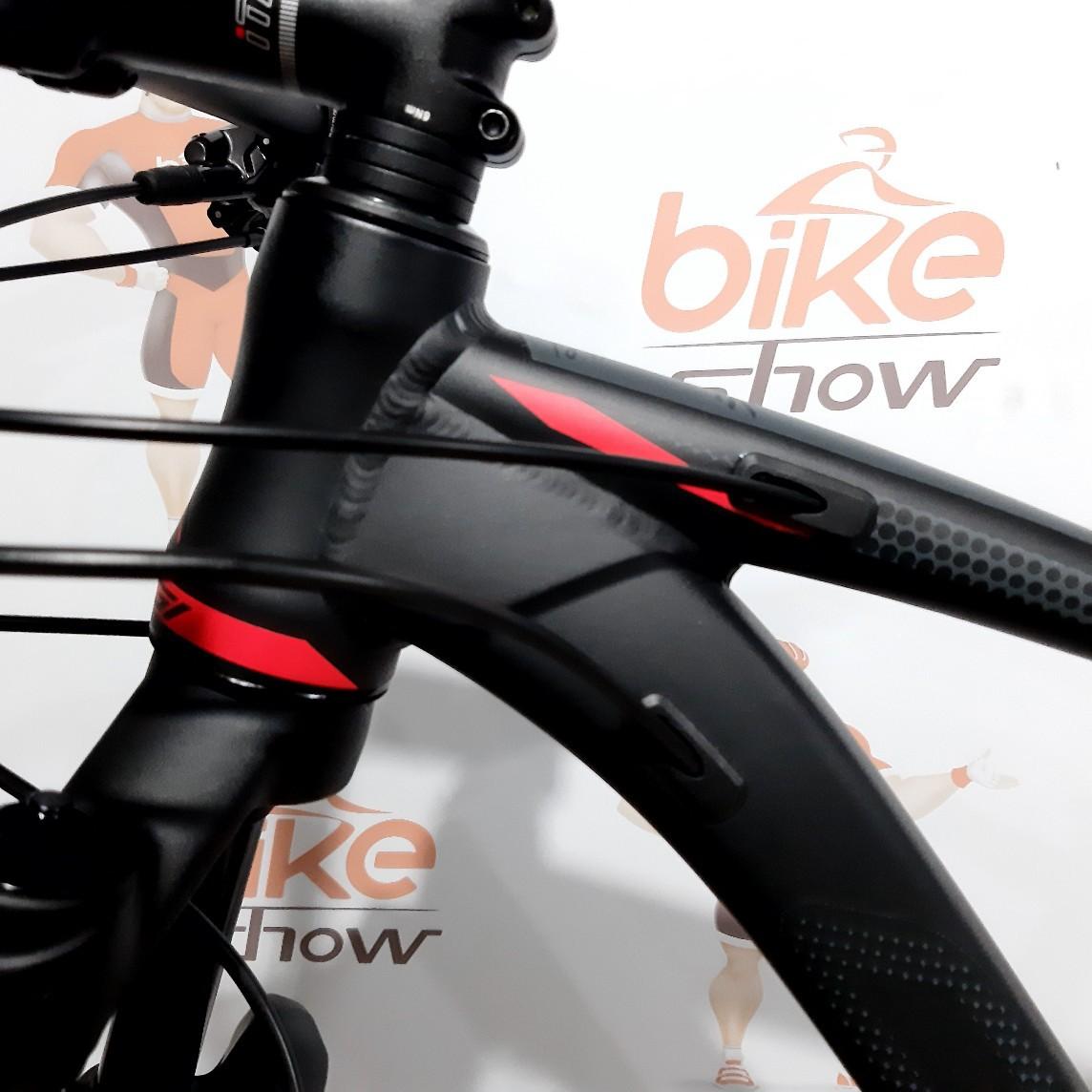 Bicicleta OGGI Big Wheel 7.6 2020 - 12v Shimano XT - A MELHOR DA CATEGORIA - Preto/Vermelho