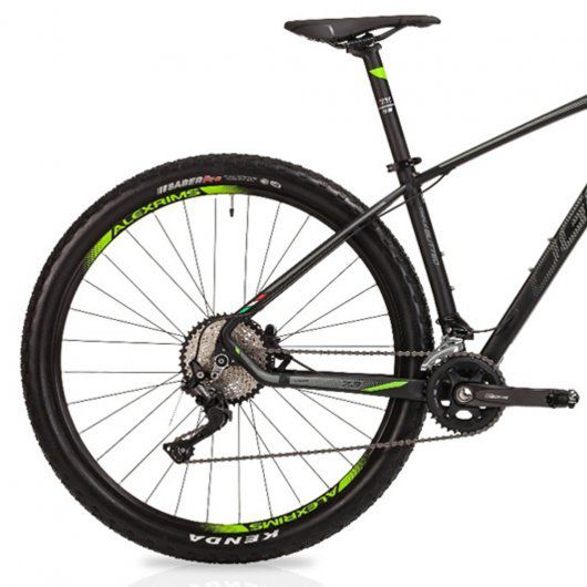 Bicicleta OGGI Big Whell 7.3 aro 29 2019 - 20V Shimano Deore M6000 - Suspensão Manitou Markhor - Preto/Grafite/Verde + BRINDES