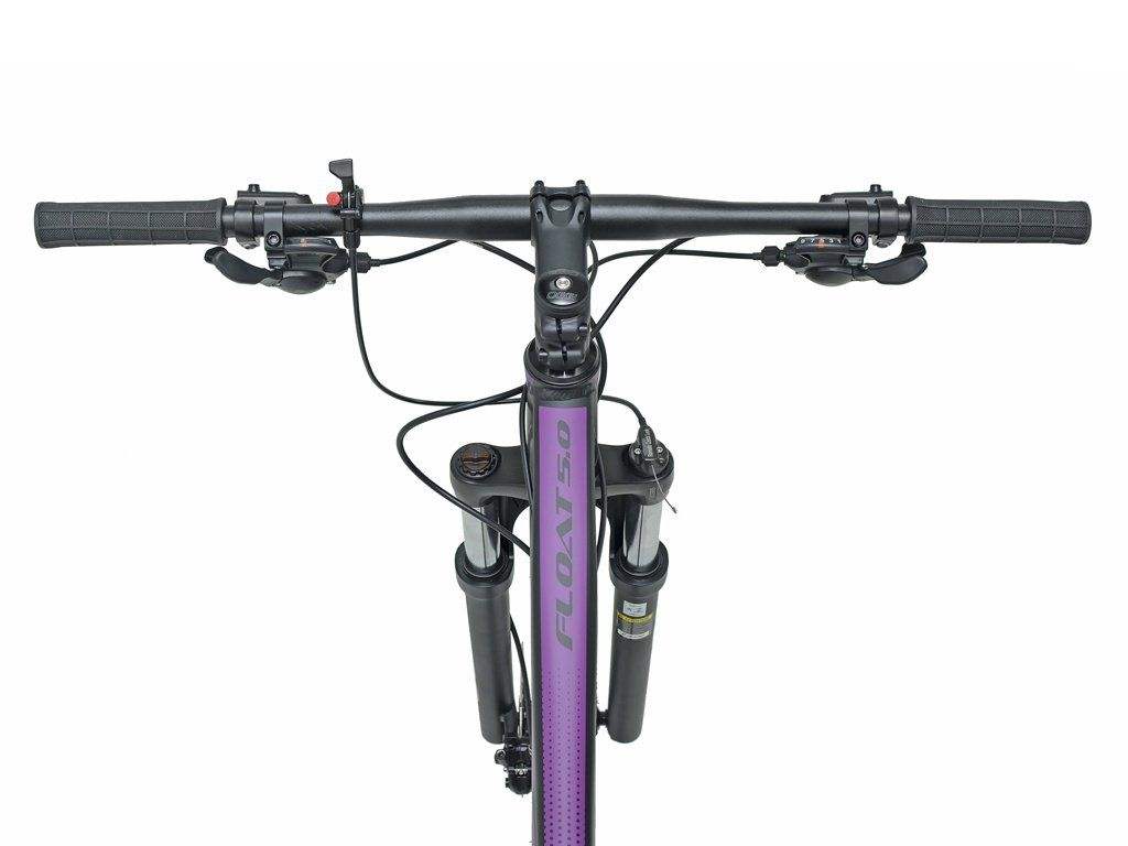 Bicicleta OGGI Float 5.0 2020 - 18v Shimano Altus/Sunrace - Freio hidráulico - Preto/Uva + BRINDES