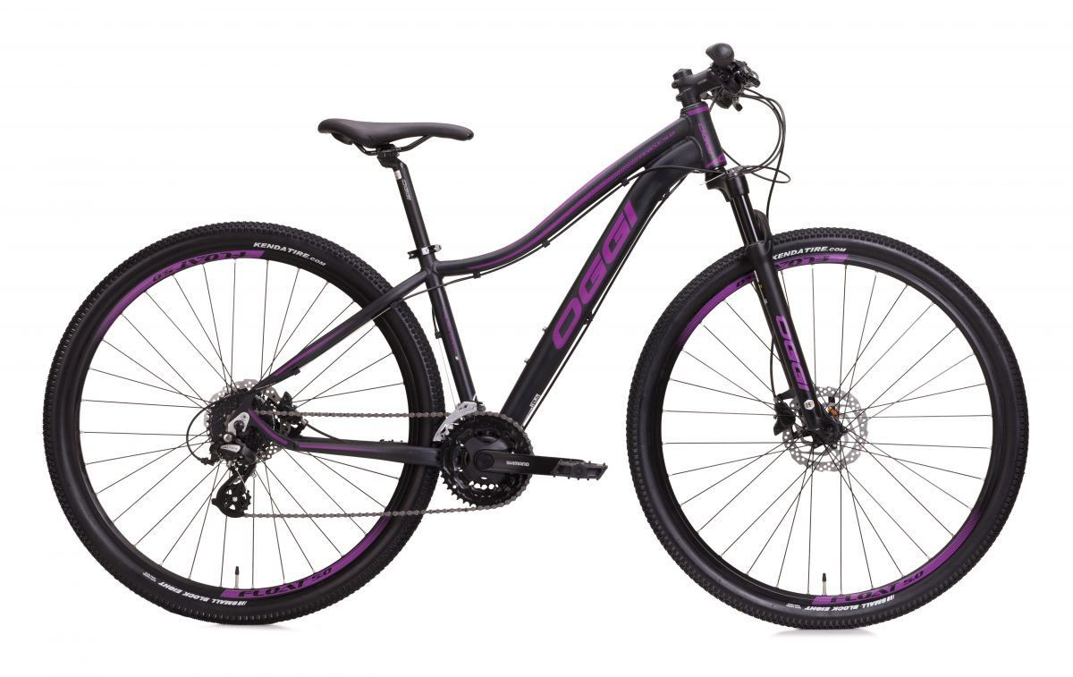 Bicicleta OGGI Float 5.0 - 27V Shimano Altus - Freio hidráulico - Preto/Uva + BRINDES