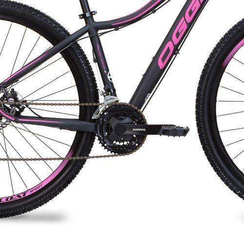 Bicicleta OGGI Float Sport aro 29 - 21v Shimano - Freio a Disco - Preto/Rosa - Modelo 2019