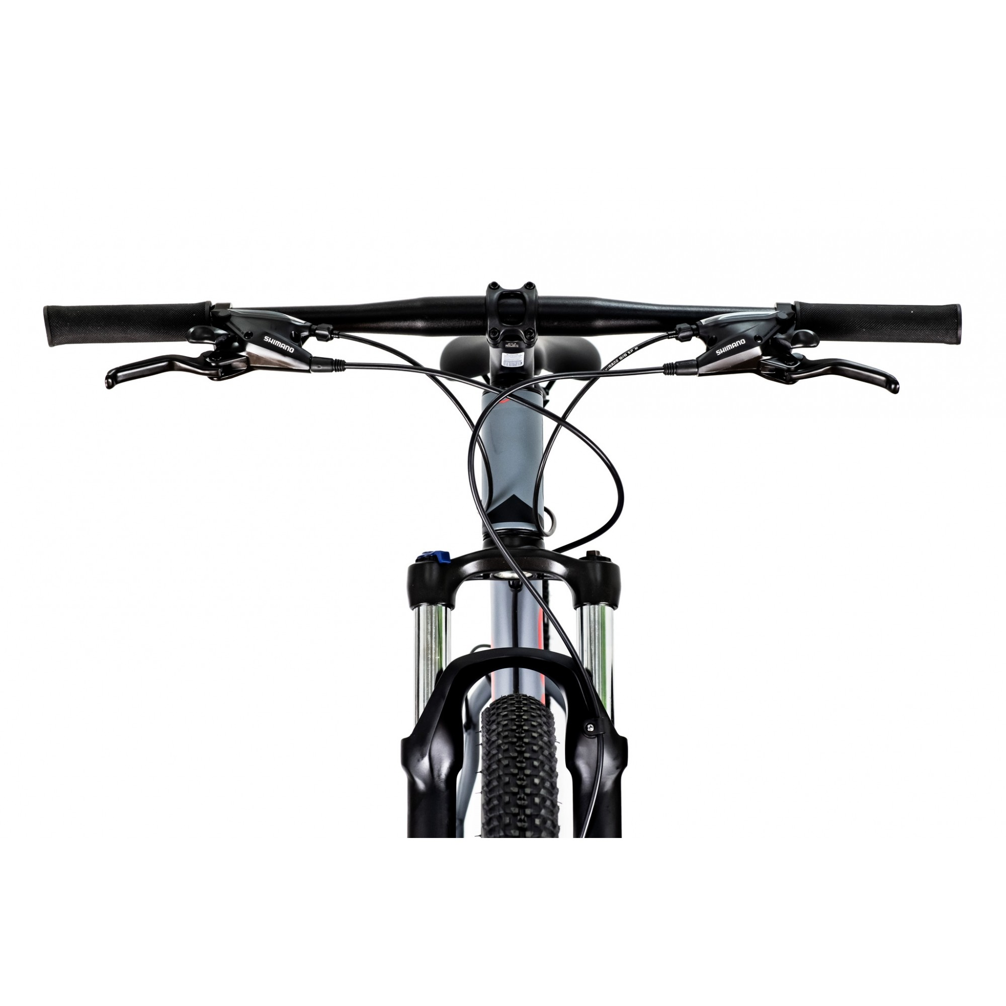 Bicicleta OGGI Hacker HDS 2021 - 24v Shimano Tourney - Freio Shimano Hidráulico - Cinza/Vermelho + BRINDES