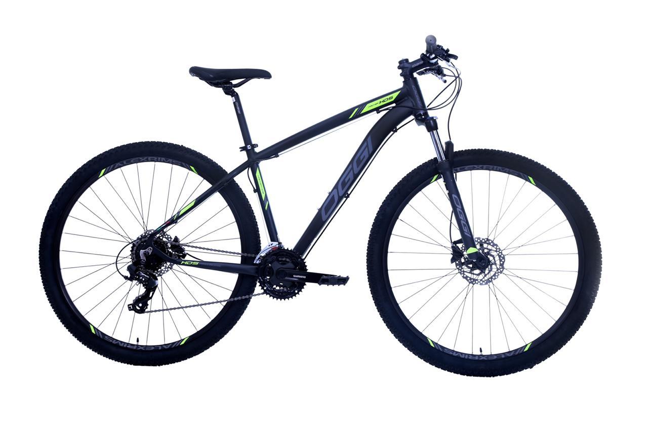 Bicicleta OGGI Hacker HDS - 24v Shimano Tourney - Freio Shimano Hidráulico - PTO/F-SLIME/GRAF + Brindes
