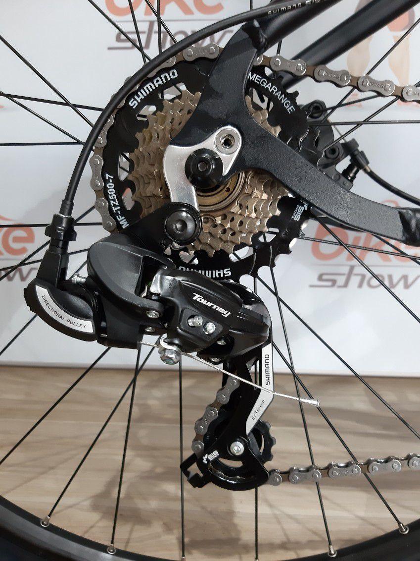 Bicicleta OGGI Hacker Sport 2019 - 21V Shimano - Freio a Disco - Preto/Vermelho + BRINDES